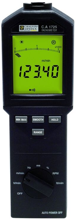 Industrial tachometer 100 000 tr/min with or without contact