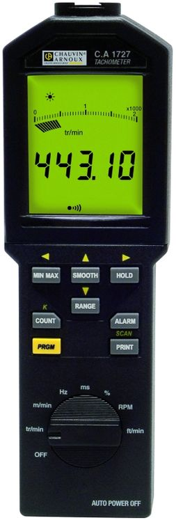 Industrial tachometer 100 000 tr/min with or without contact, datalogging