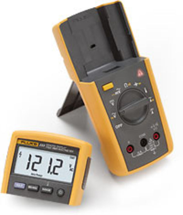 TRMS hand-held digital multimeter with remote display