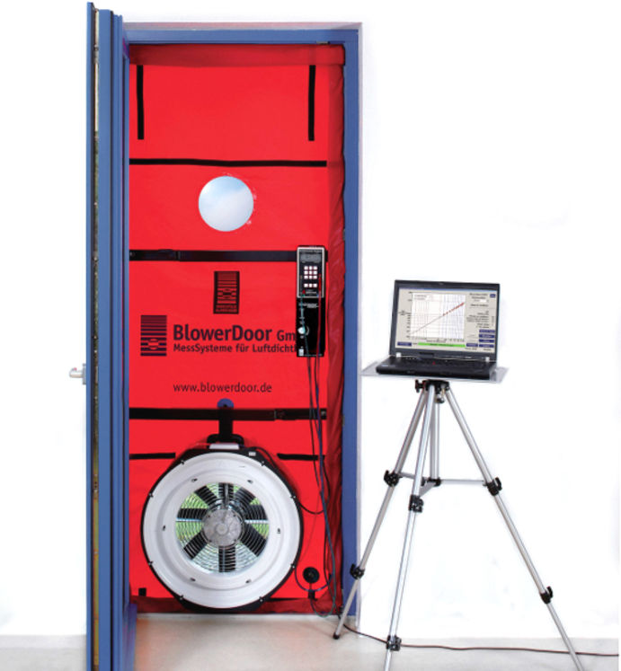 "Infiltrometry system ""Blower Door"", ISO 9972, 7200m3/h at 50Pa"