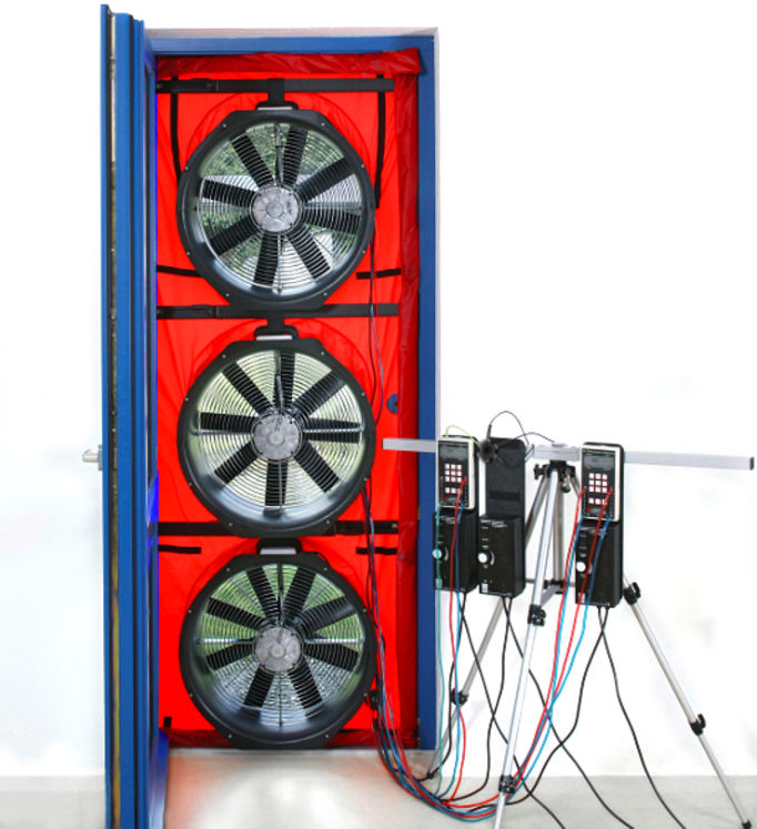 "Infiltrometry 3 fan system ""Blower Door"", ISO9972, 22500m3/h at 50Pa"
