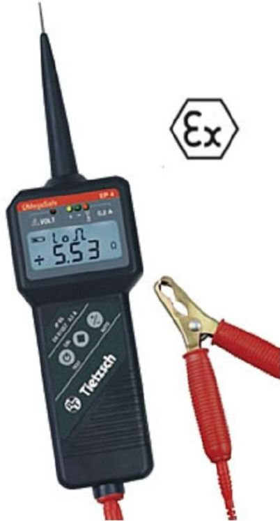 Continuity tester for ATEX area
