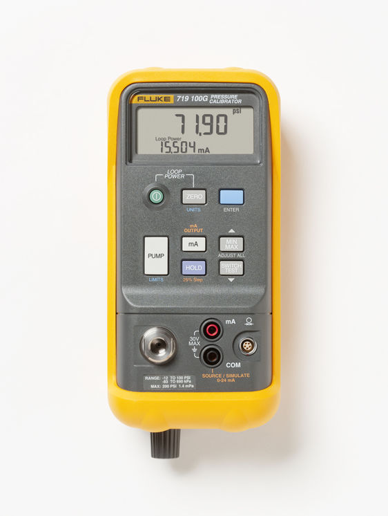 Handheld pressure calibrator, electric pump, pressure & 0-24mA current sourcing