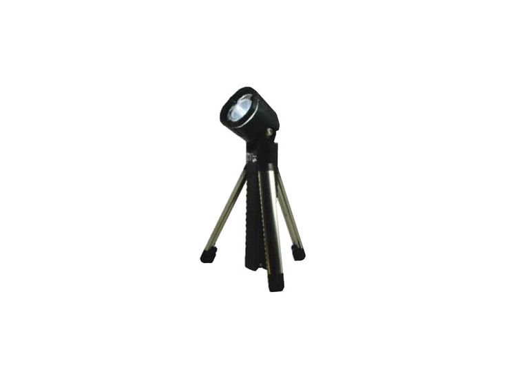Rechargeable LED flashlight, 70 Lumens, built-in tripod, movable head