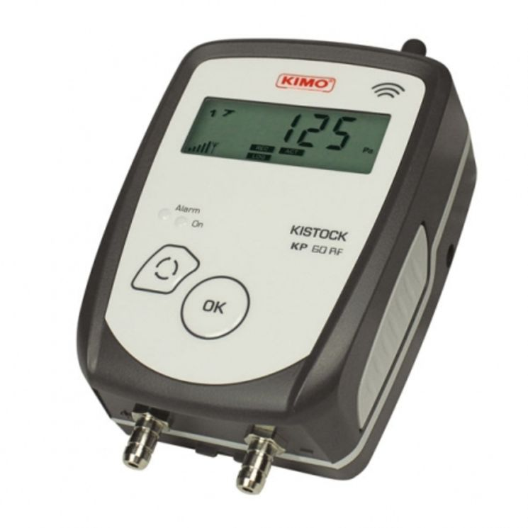 RF pressure recorder with or without display, -10 000 to 10 000Pa +-0.5%