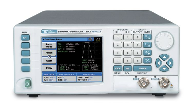 Single channel Pulse/Pattern & Function generator, 50MHz-100MHz, 300MS/s, 1-4MPts Max.