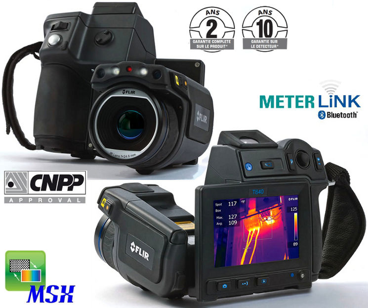 IR camera, 0.03°C,640x480, lens 25/45/15°, touch screen,fusion, MeterLink,WiFi,viewfinder,profil