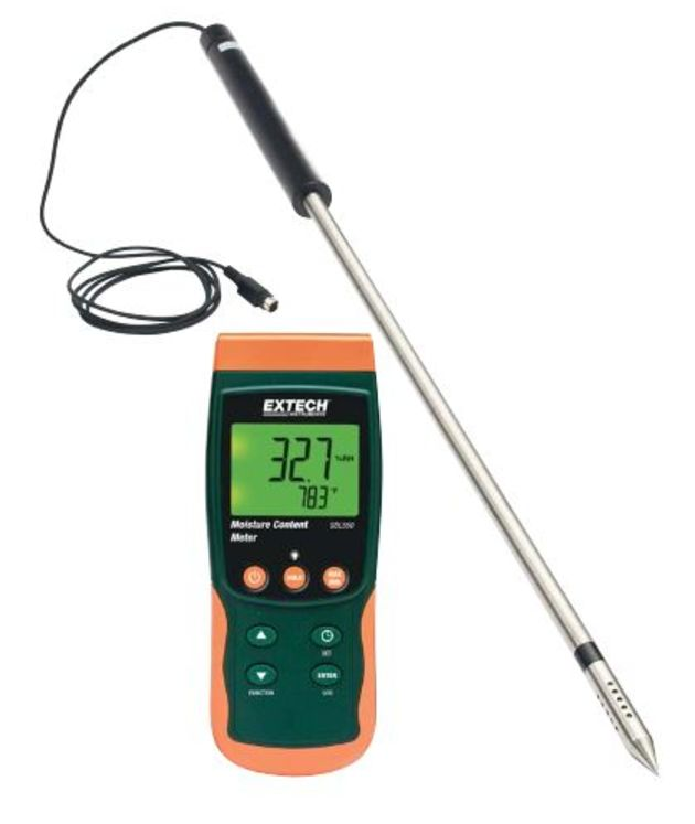 Pin moisture meter with remote probe, + 1 thermocouple CHannel, Datalogger on SD card