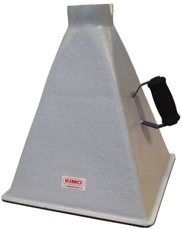 Cone of flow 350x350 mm, 10-400m³/h, for Kimo anemometer with rotating vane sensor Ø100mm