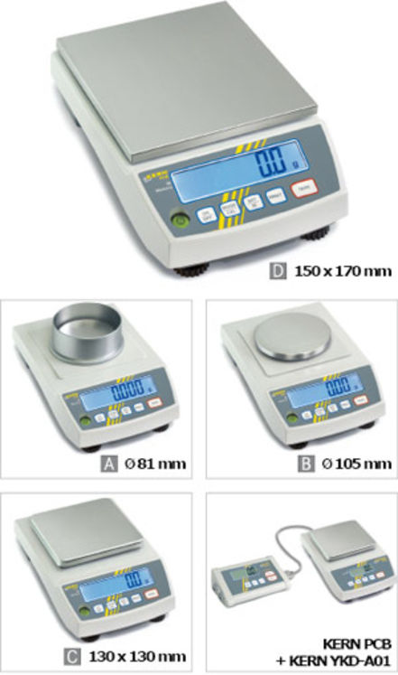 Compact weighing Precision balance 3500g; 0.03g; Weighing plate 130x130mm