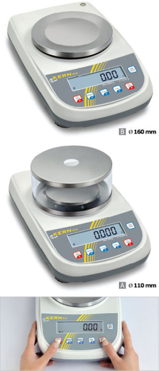 Precision balance 1200g; 0.003g; Internal calibration; Weighing plate diam.110mm with shield