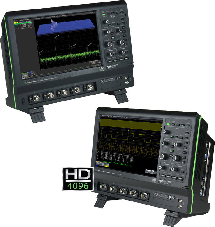 12 bits scope, 2 channels, 200MHz, 2.5Gsps, 12.5Mpts/ch, touch display
