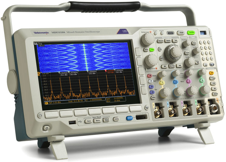 6-in-1 upgradeable Mixed Domain Oscilloscope, 1GHz, 2.5/5 GS/s,10Mpts, 4analog/16digital/1RF ch
