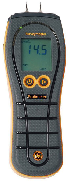 Contact and contactless moisture meter, 7.9-99%RH, color indication LEDS