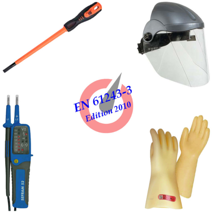 PPE kit with VAT for intervention in low voltage, 1000V max., BR