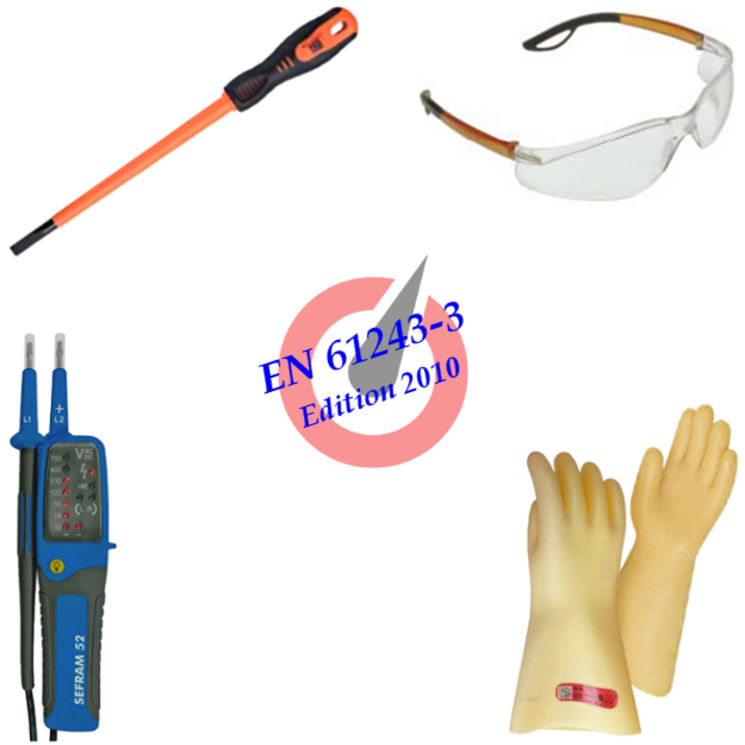 PPE kit with VAT for intervention in low voltage, 500V max., BS