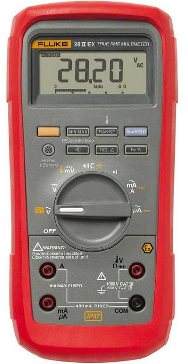 Handheld robust TRMS multimeter, 1000V/10A AC/DC, IP67 - ATEX model