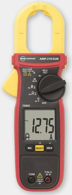 TRMS multimeter clamp, 600A AC, 600V AC/DC, diam.30mm max., non contact voltage detector