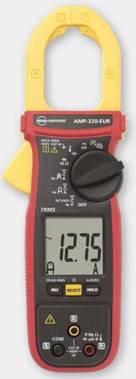 TRMS multimeter clamp, 600A/600V AC/DC, diam.35mm max., non contact voltage detector