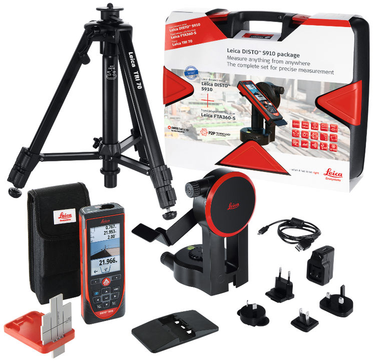 Kit S910 -Distancemeter with DXF files, Wi-Fi - FTA360-S and TRI70 in hardcase