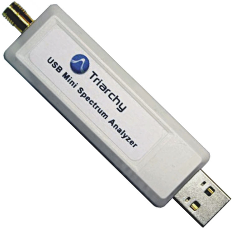 USB mini spectrum analyzer, 4.9GHz - 13.5GHz, -95 to +30dBm