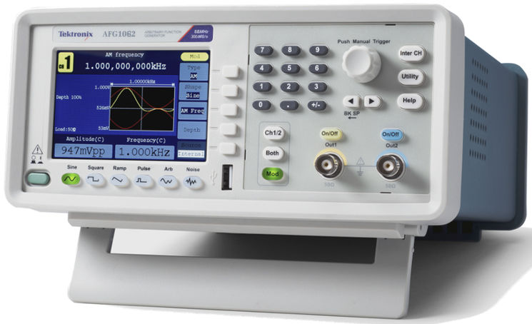 Arbitrary function generator, 2 channels, 60MHz, 300 MS/s, 1MPts, 14 bit