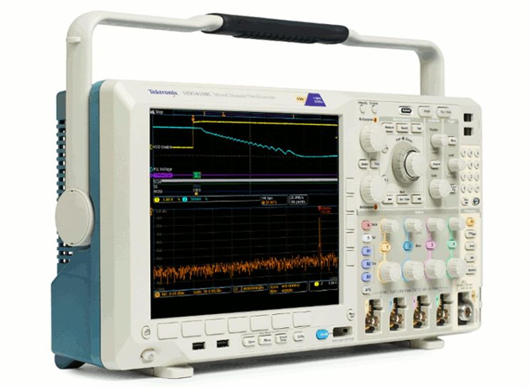 Mixed Domain Oscilloscope, 1GHz, 5GS/s, 20Mpoints, 4analog/16digital/1RF (up to 6GHz) channels