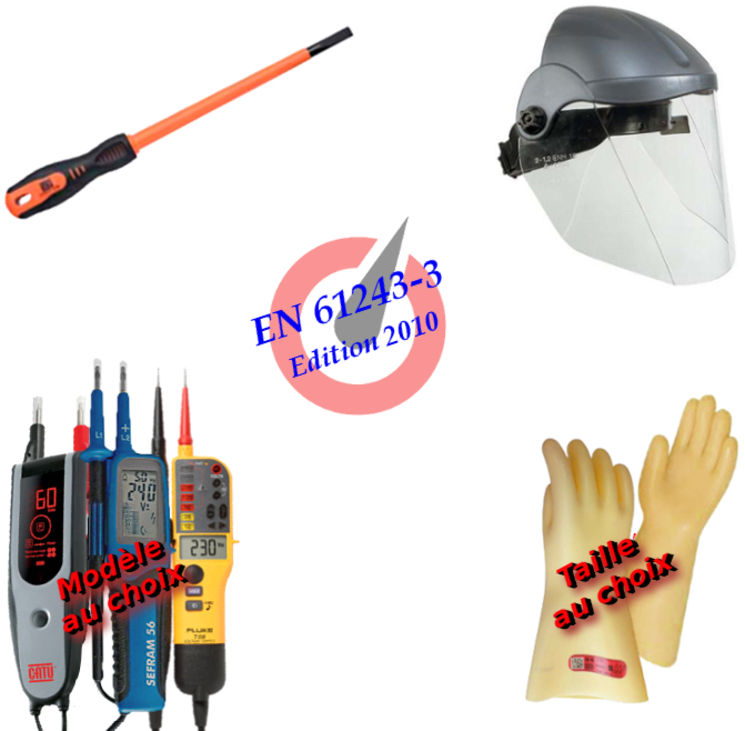 PPE kit with VAT for electrical diagnosis