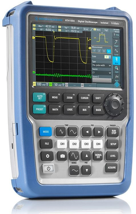 Handheld oscilloscope, 4 channel, 60MHz (upgradeable up to 500MHz), 1.25/5 Gsps, 500kpts max.