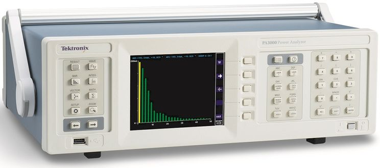 Power analyzer, 1 to 3 phases, 600Vrms, 30Arms, 0.04%