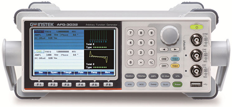 Arbitrary function generator, 2 channels, 30MHz, 250MSa/s
