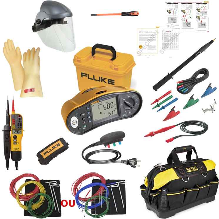 KIT: Fluke 1663 + EPI kit + VAT + telescopic pole + case, FD C16-600 compliance