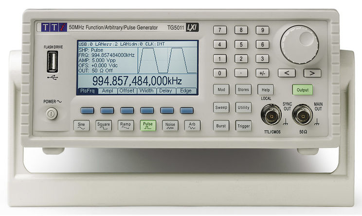 High Performance Function/Arbitrary/Pulse Generator 50MHz, 1 channel, USB/LXI