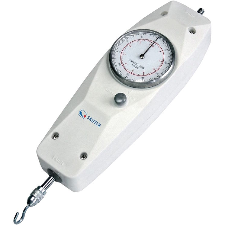 Mechanical/analog dynamometer, for pressure & tensile force measurements, 5 to 500N depends of model