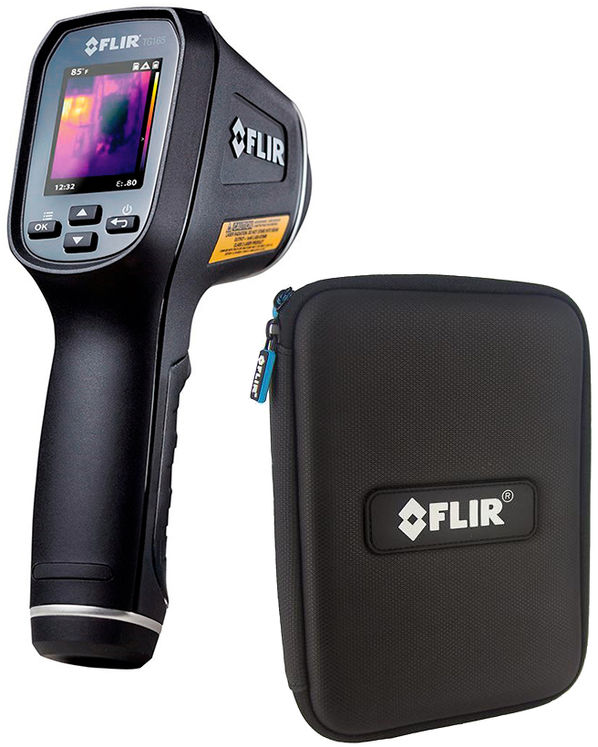 Kit: Imaging IR Thermometer, double laser beam, -25 to +380°C, 24:1, 80x60 pixels + semi-rigid Pouch
