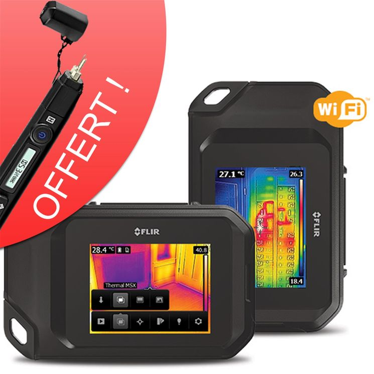 Compact Thermal Imaging System, 80x60, 0.1°C, touch-screen, MSX - with WiFi