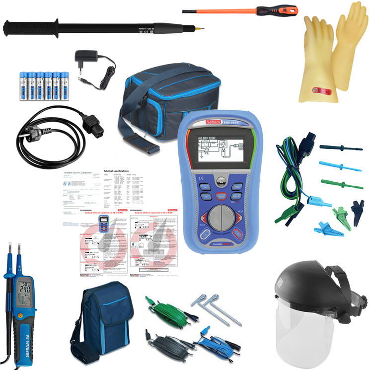 Kit with electrical installation controller, PPE kit, VAT & pole, for FD C 16-600