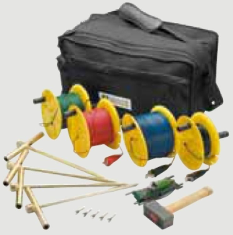 Earth and resistivity rods kit 4P method (150m)