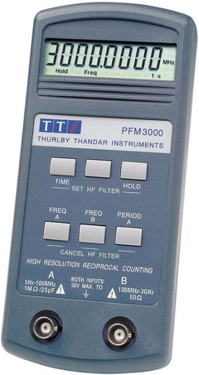 Handheld frequency meter/counter 3 Hz to 3 GHz