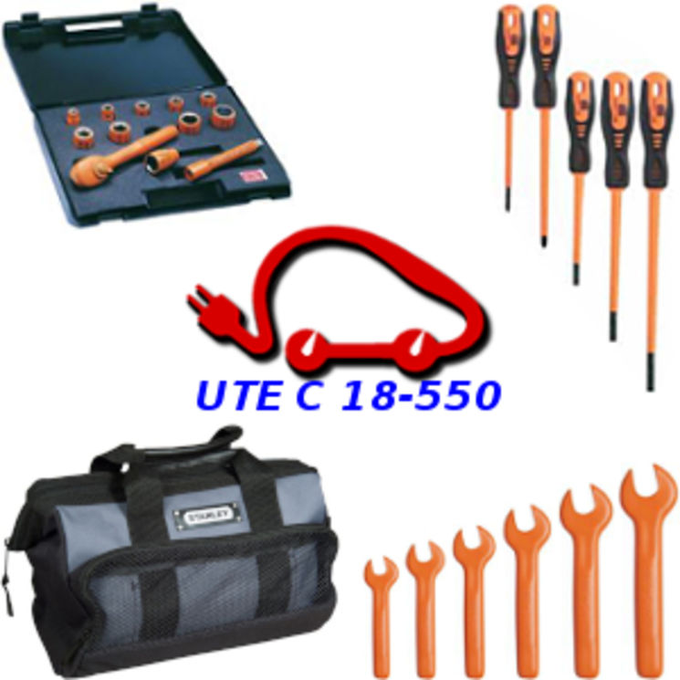 Tool kit for Hybrid & electrical cars, UTE C 18-550